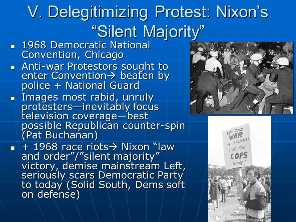 V. Delegitimizing Protest: Nixon's Silent Majority