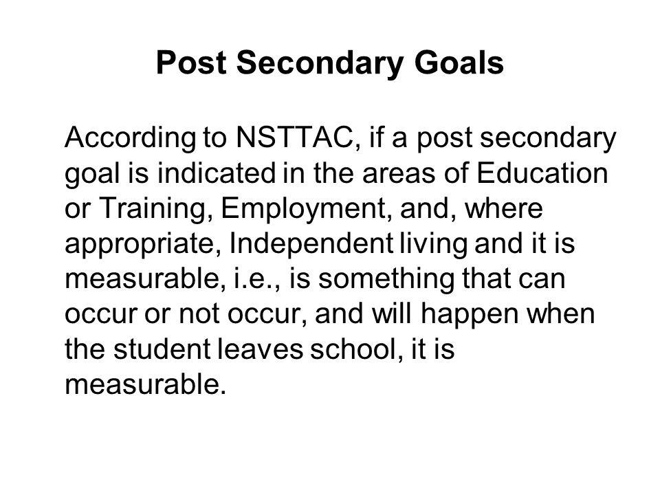Post Secondary Goals