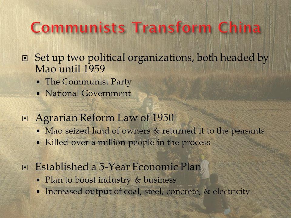 Communists Transform China