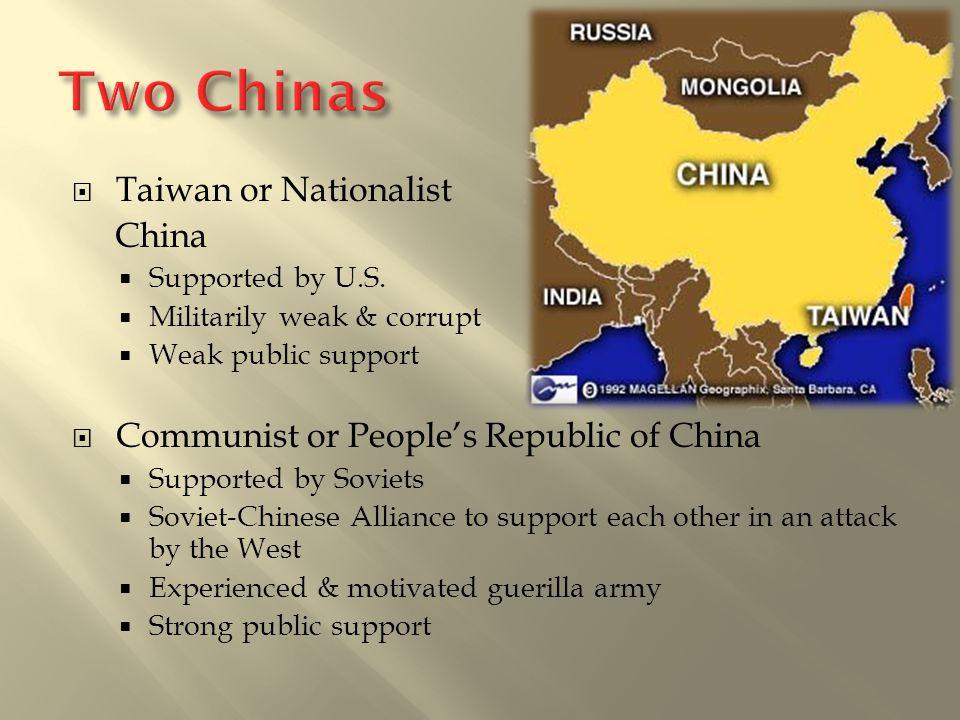 Two Chinas Taiwan or Nationalist China