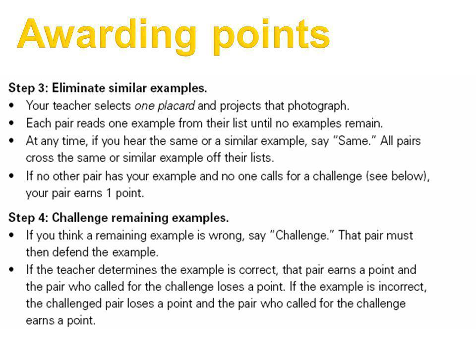 Awarding points 3