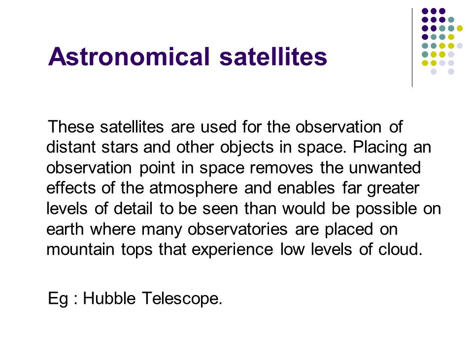 Astronomical satellites