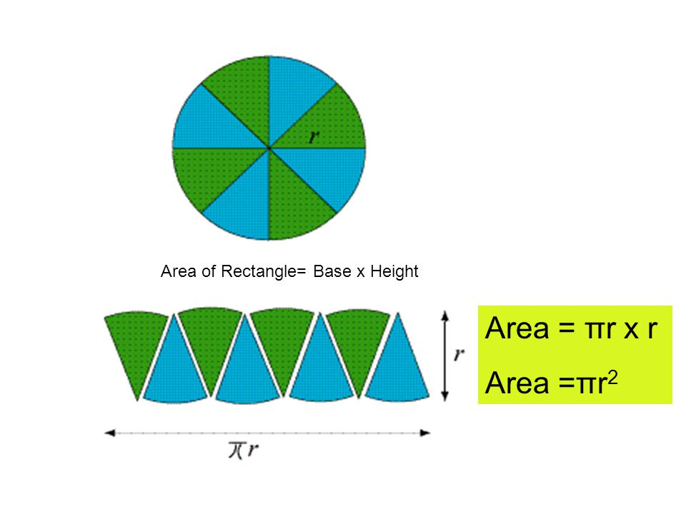 Area of Rectangle= Base x Height