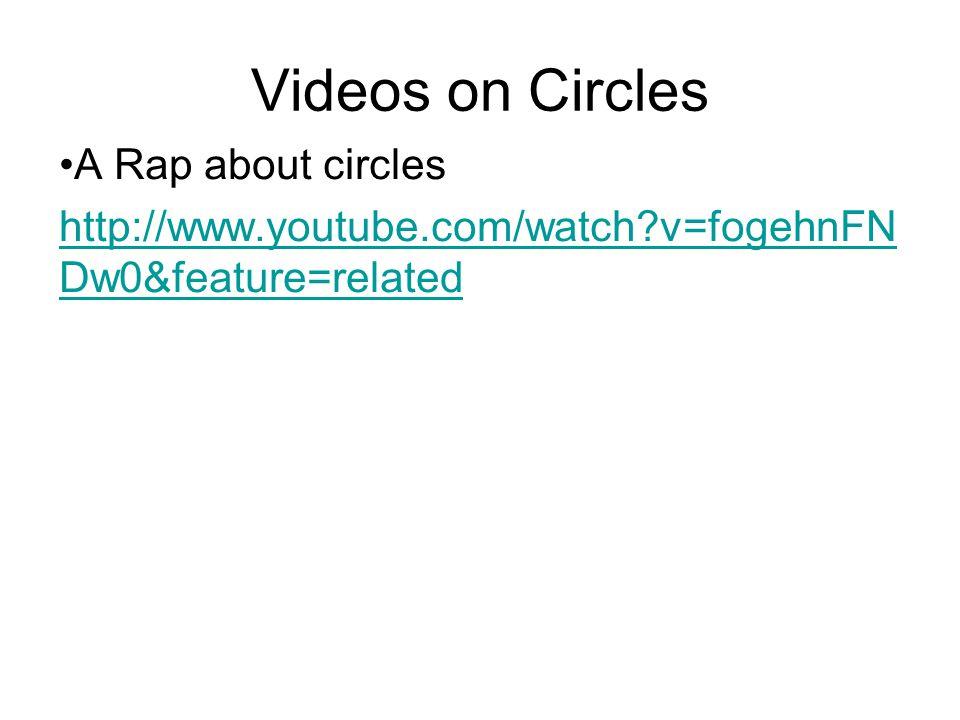Videos on Circles A Rap about circles