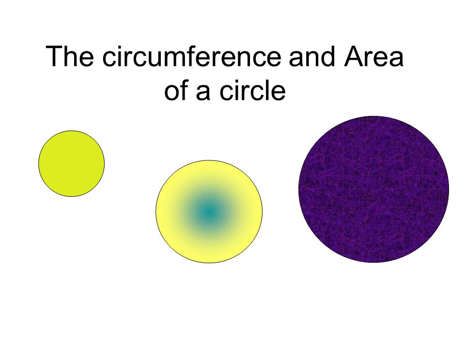The circumference and Area of a circle