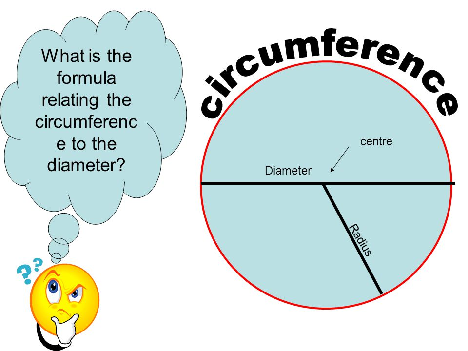 What is the formula relating the circumference to the diameter