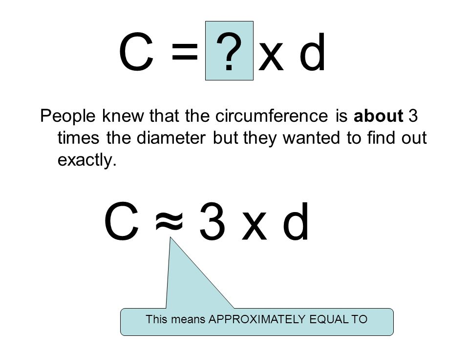 This means APPROXIMATELY EQUAL TO