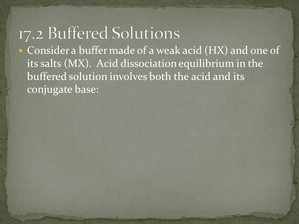 17.2 Buffered Solutions