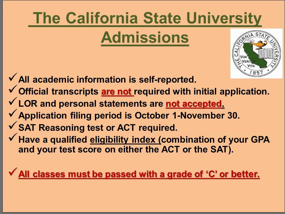 The California State University Admissions