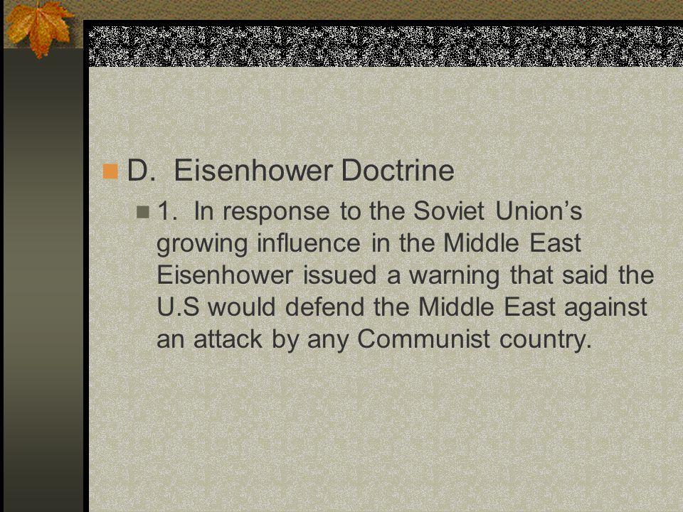 D. Eisenhower Doctrine