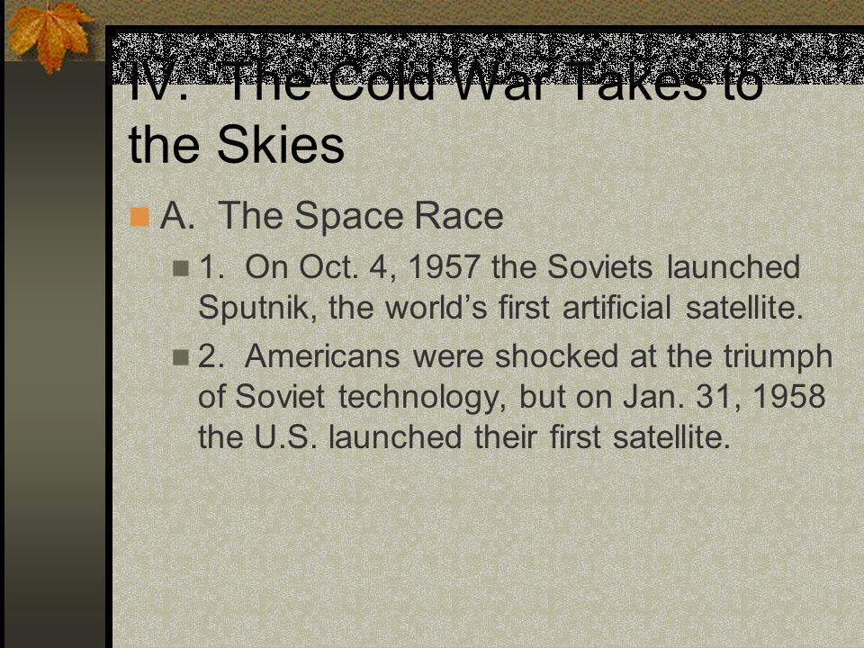 IV. The Cold War Takes to the Skies