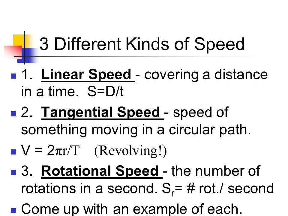 3 Different Kinds of Speed