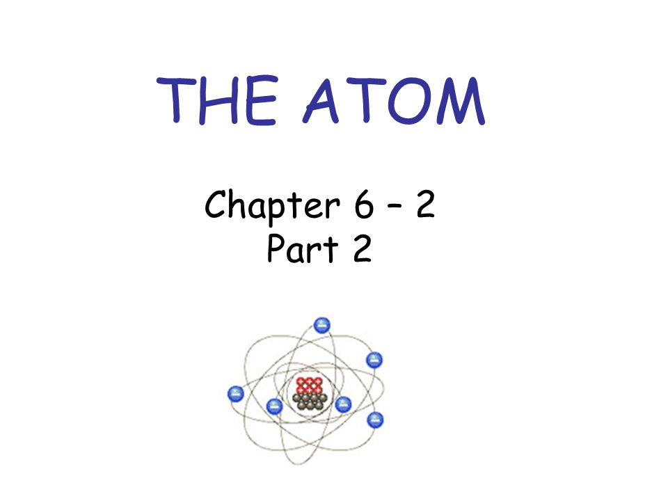 THE ATOM Chapter 6 – 2 Part 2