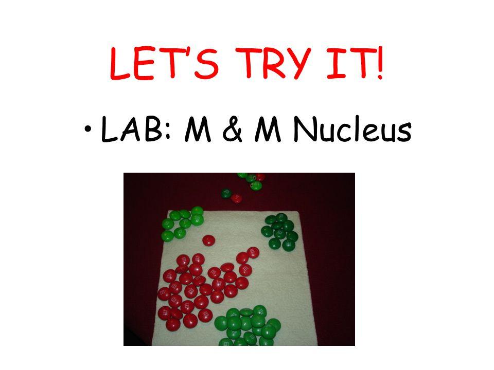 LET'S TRY IT! LAB: M & M Nucleus