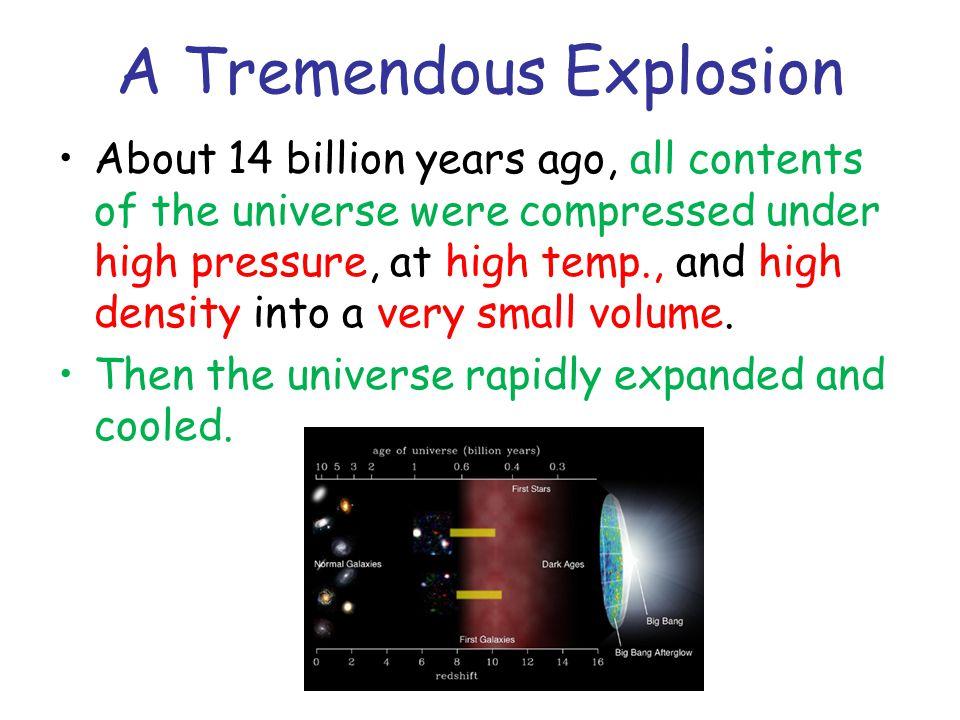 A Tremendous Explosion