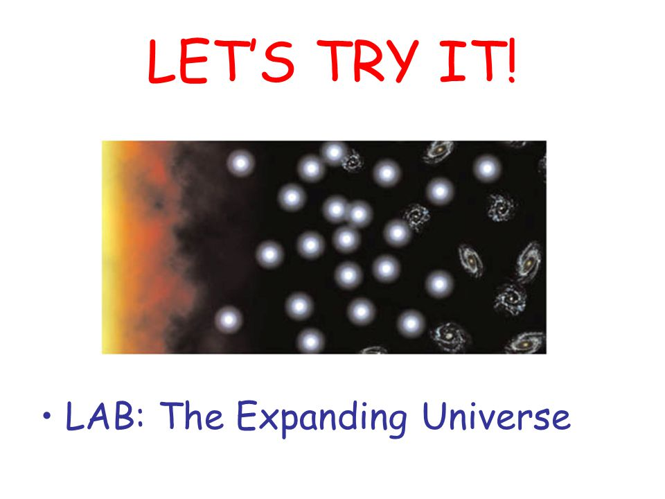 LET'S TRY IT! LAB: The Expanding Universe