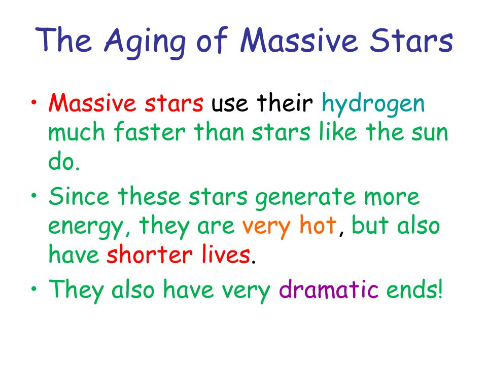 The Aging of Massive Stars