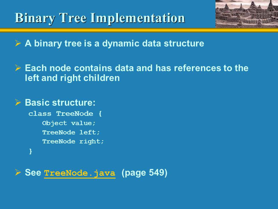 Binary Tree Implementation