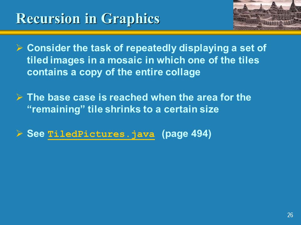 Recursion in Graphics
