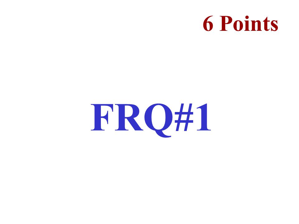 6 Points FRQ#1