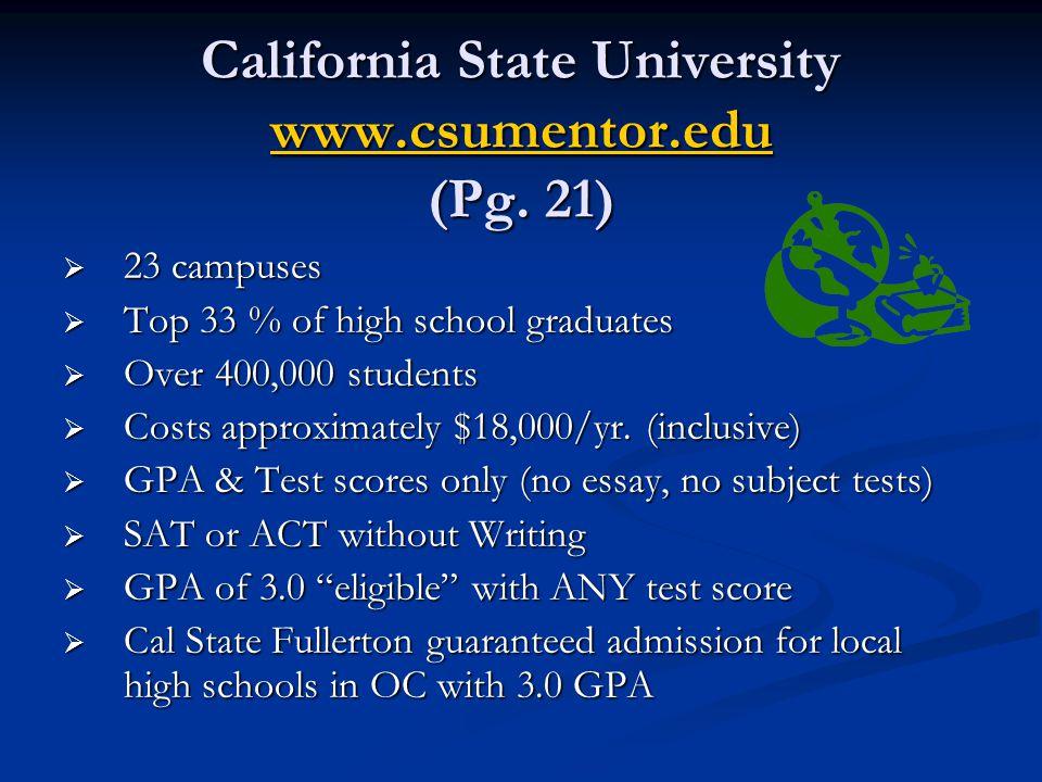 California State University www.csumentor.edu (Pg. 21)