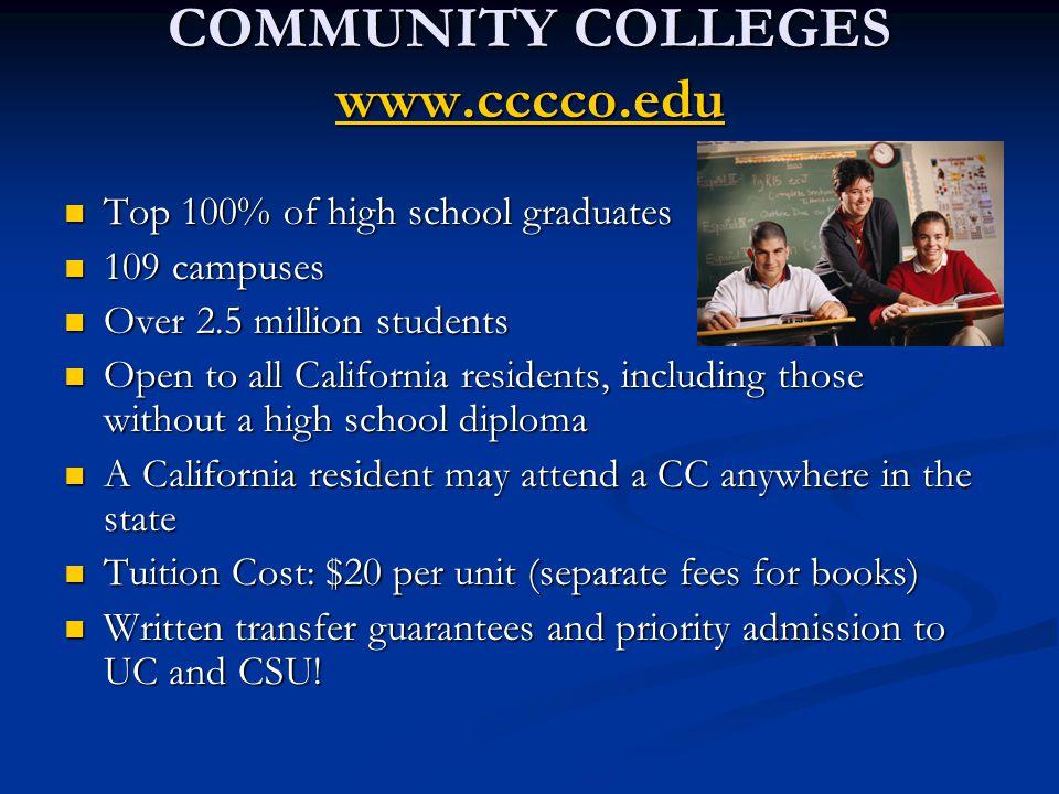 COMMUNITY COLLEGES www.cccco.edu
