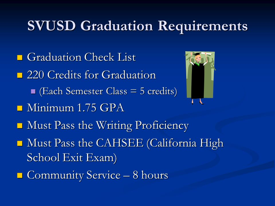 High School Graduation Requirement or Credit toward Graduation — Service-Learning/Community Service