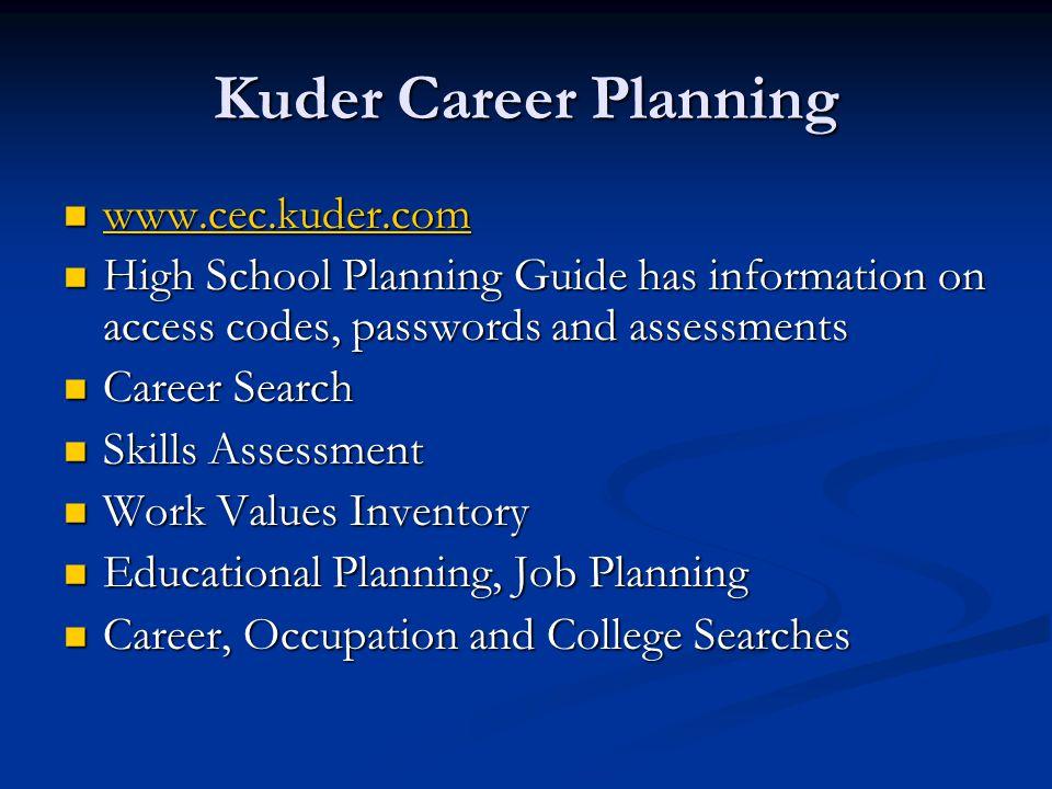Kuder Career Planning www.cec.kuder.com