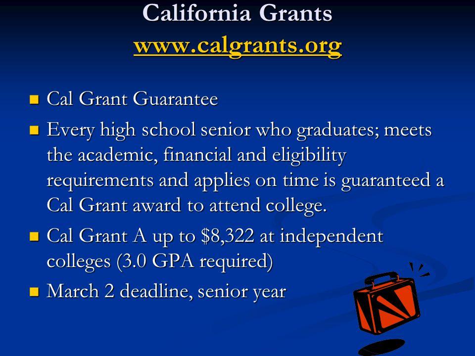 California Grants www.calgrants.org