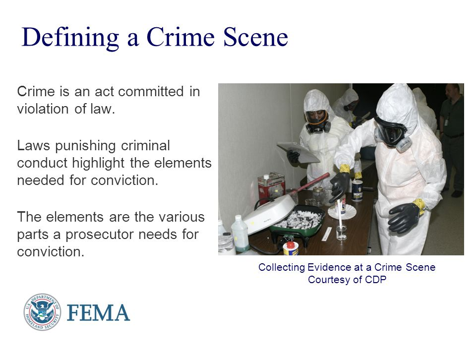 Collecting Evidence at a Crime Scene