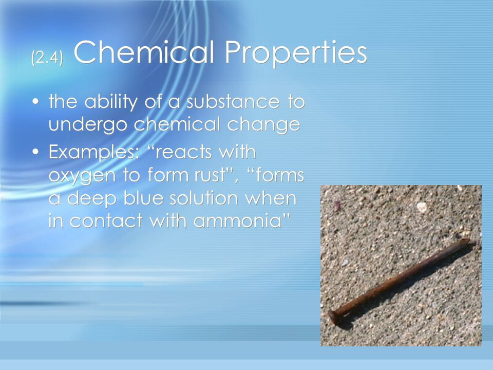 (2.4) Chemical Properties