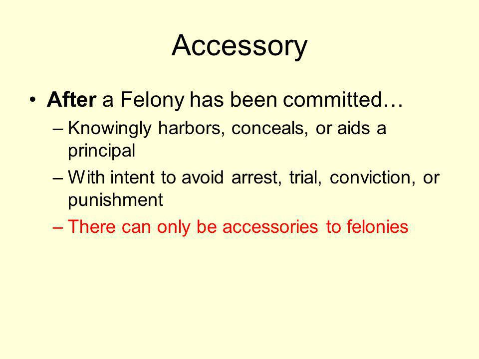 Accessory After a Felony has been committed…