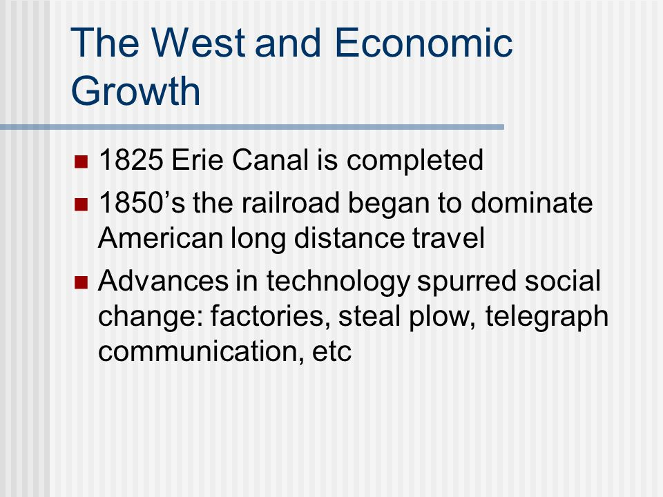The West and Economic Growth