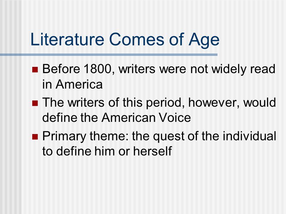Literature Comes of Age