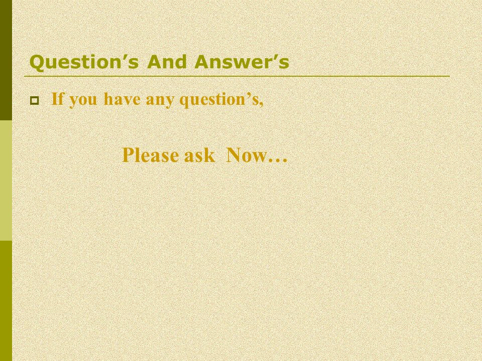 Question's And Answer's