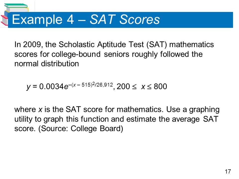 Example 4 – SAT Scores