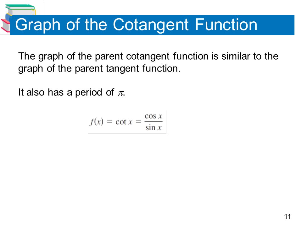 Graph of the Cotangent Function