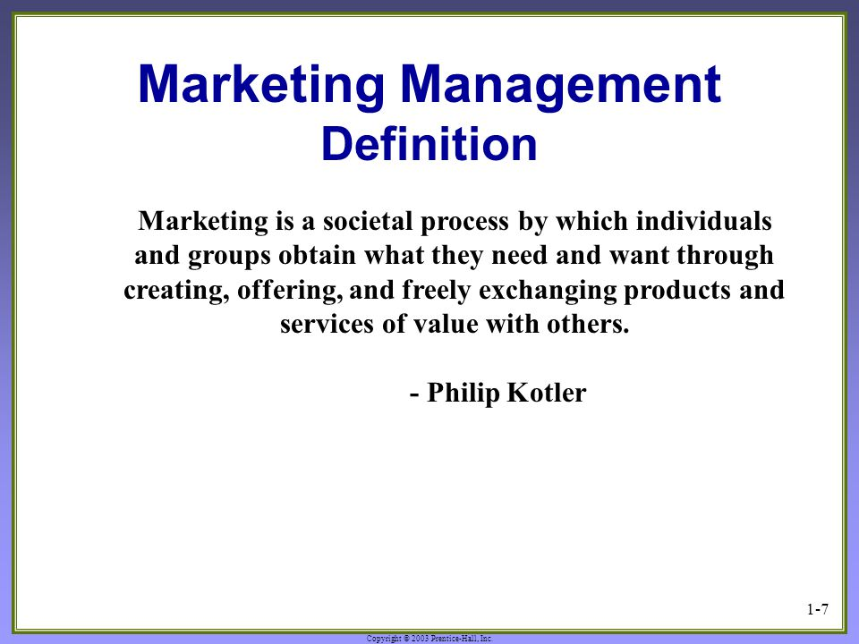 philip kotler s definition market segmentation is subdividing of market into homogeneous sub set of  Market segmentation according to philip kotler, 'market segmentation divides the market into well-defined slices' it is a very vital process for the company without a clear idea of the nature of the target segments, the firm is forced to use a scatter-shot approach to marketing strategic decision-making, with little chance for success.