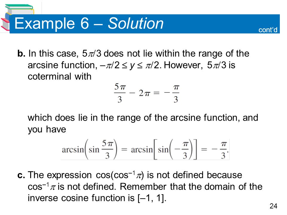 Example 6 – Solution cont'd.