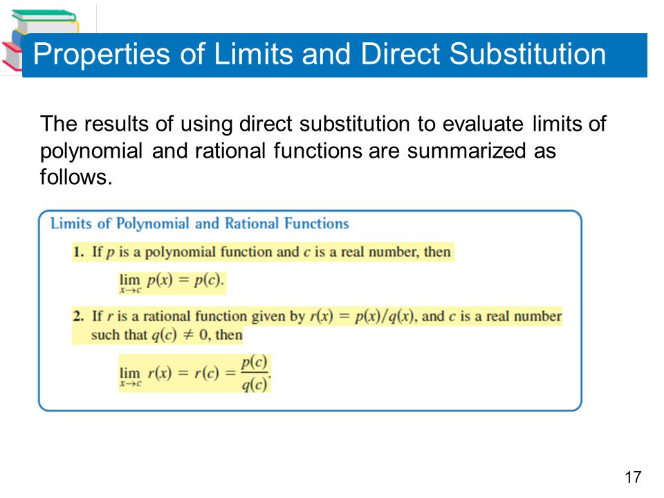 Properties of Limits and Direct Substitution