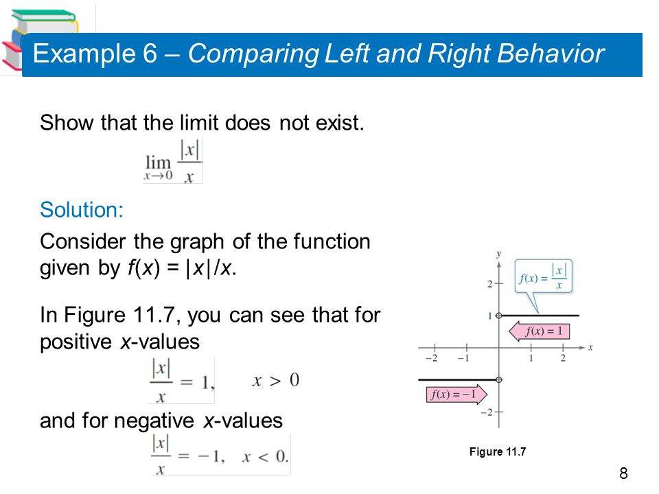 Example 6 – Comparing Left and Right Behavior