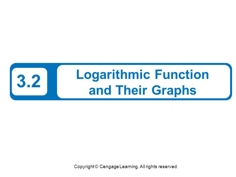 Logarithmic Function and Their Graphs