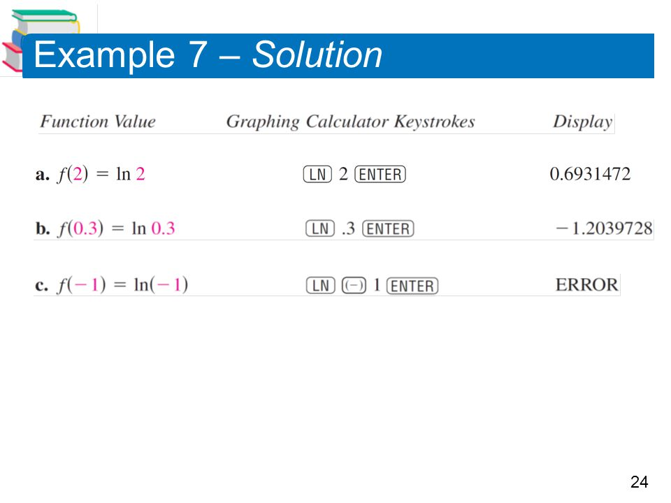 Example 7 – Solution