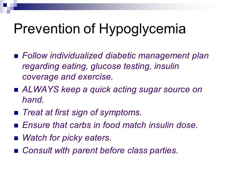 Mild Hypoglycemia: What to do