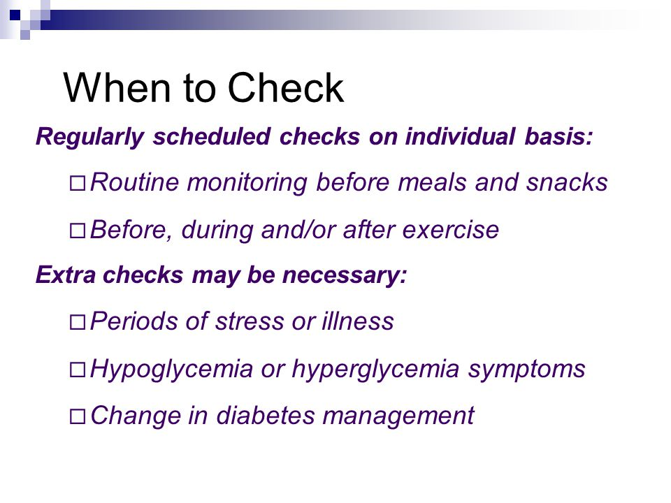 Prevention of Hyperglycemia