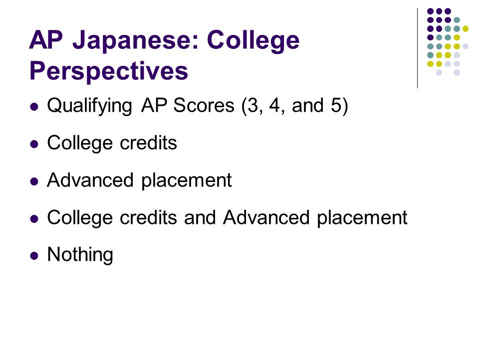 AP Japanese: College Perspectives