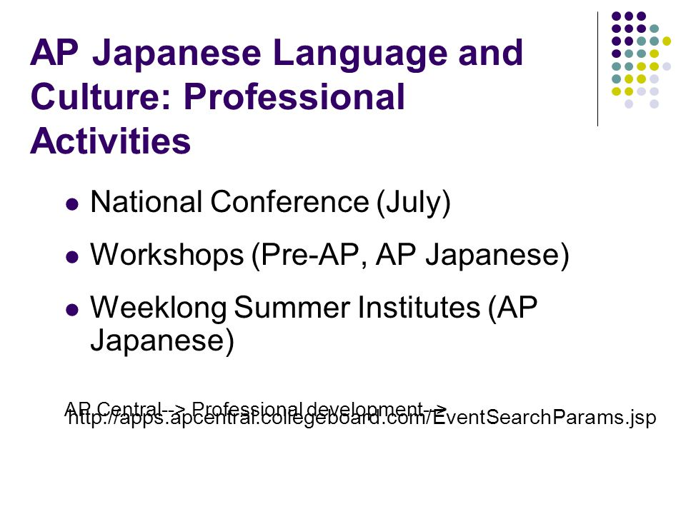 AP Japanese Language and Culture: Professional Activities