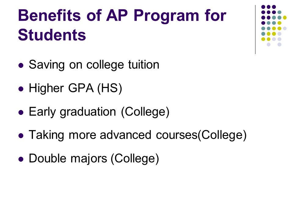 Benefits of AP Program for Students