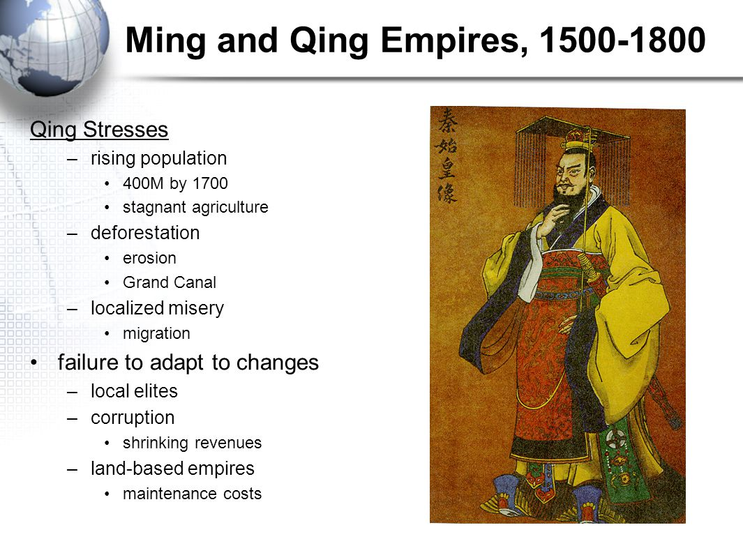 Ming and Qing Empires, 1500-1800 Qing Stresses