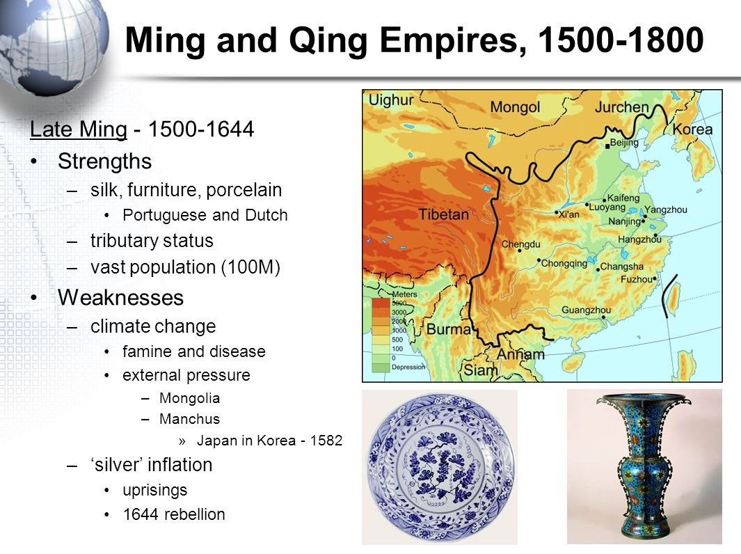 Ming and Qing Empires, 1500-1800 Late Ming - 1500-1644 Strengths